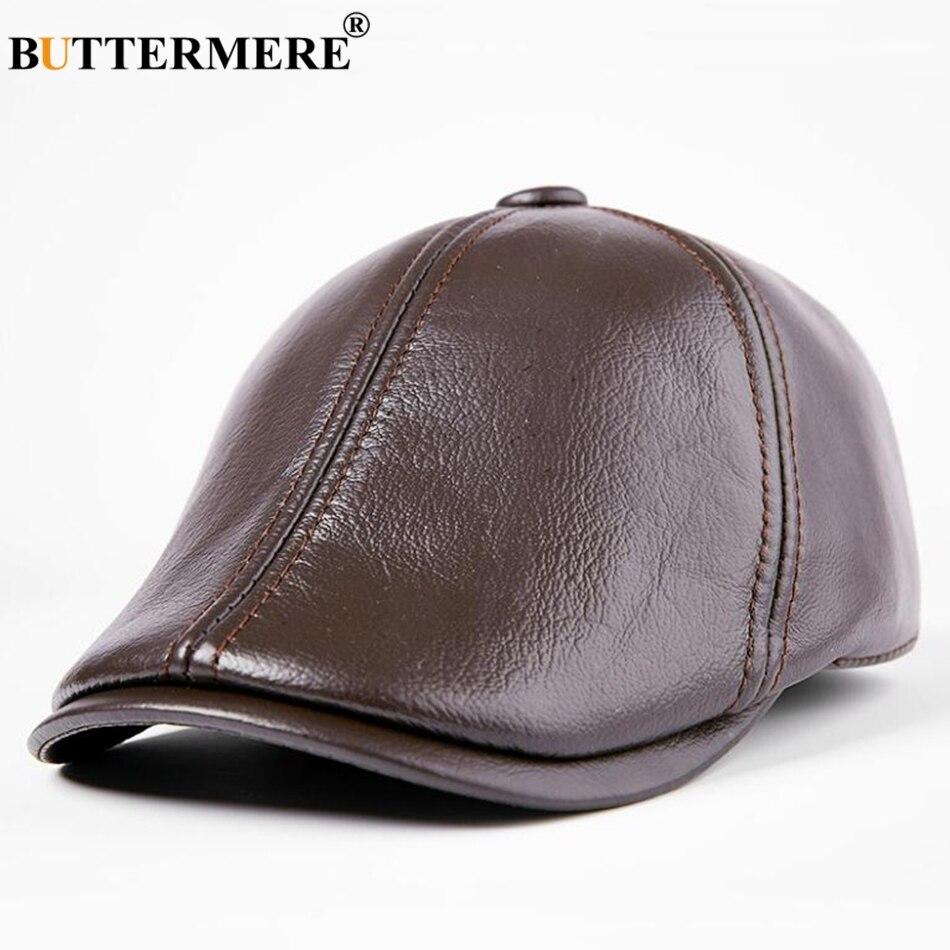 d2073d12e7056 Características 2019 gorros boina gorras planas hombres Borgoña hiedra  gorra pico de pato cálidas gorras de taxi