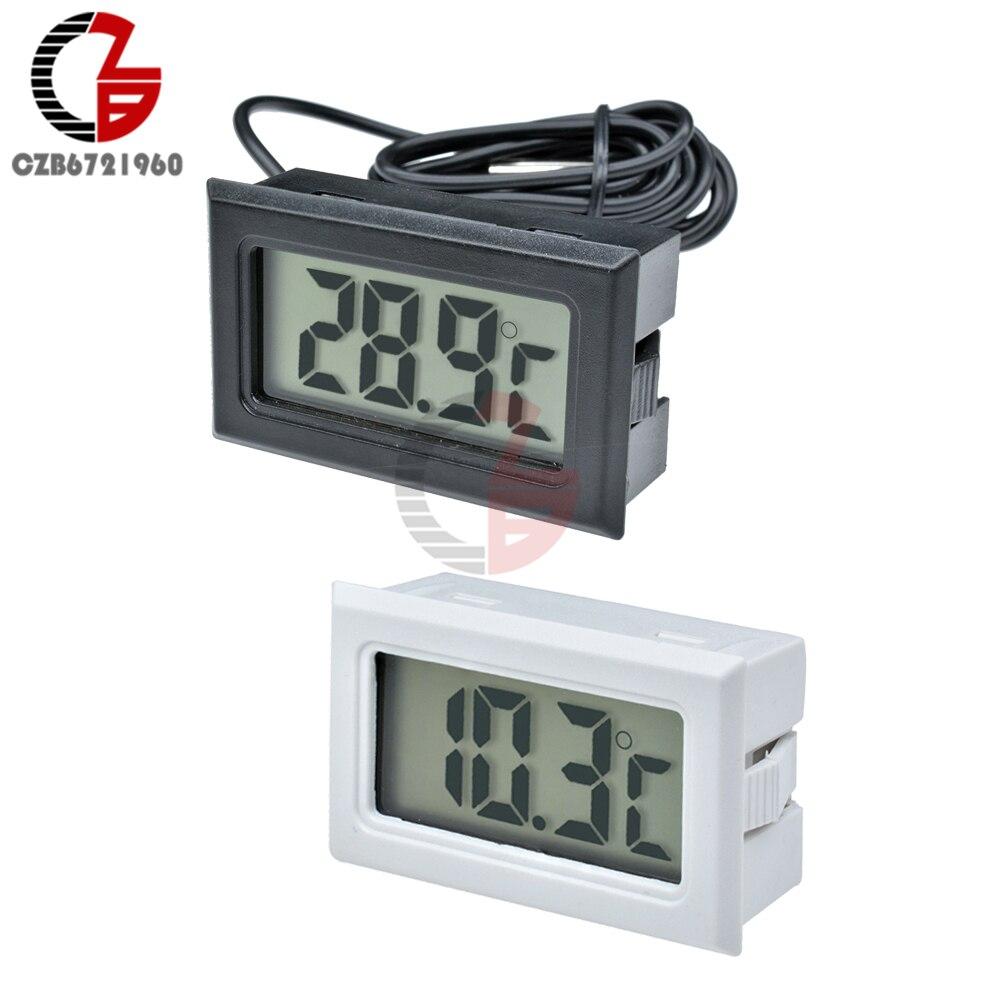 1/3/5M Sensor Probe Mini Car Fridge LCD Digital Thermometer Refrigerator Freezer Aquarium Thermal Temperature Detector Monitor