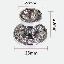 Современная модная Роскошная прозрачная ручка для ящика с кристаллами