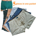 5 Pieces/sets 100% Cotton Plus Size Big Boxers Vogue Men's Clothing Boxers Shorts High Quality Mens Short  Pants Underwears