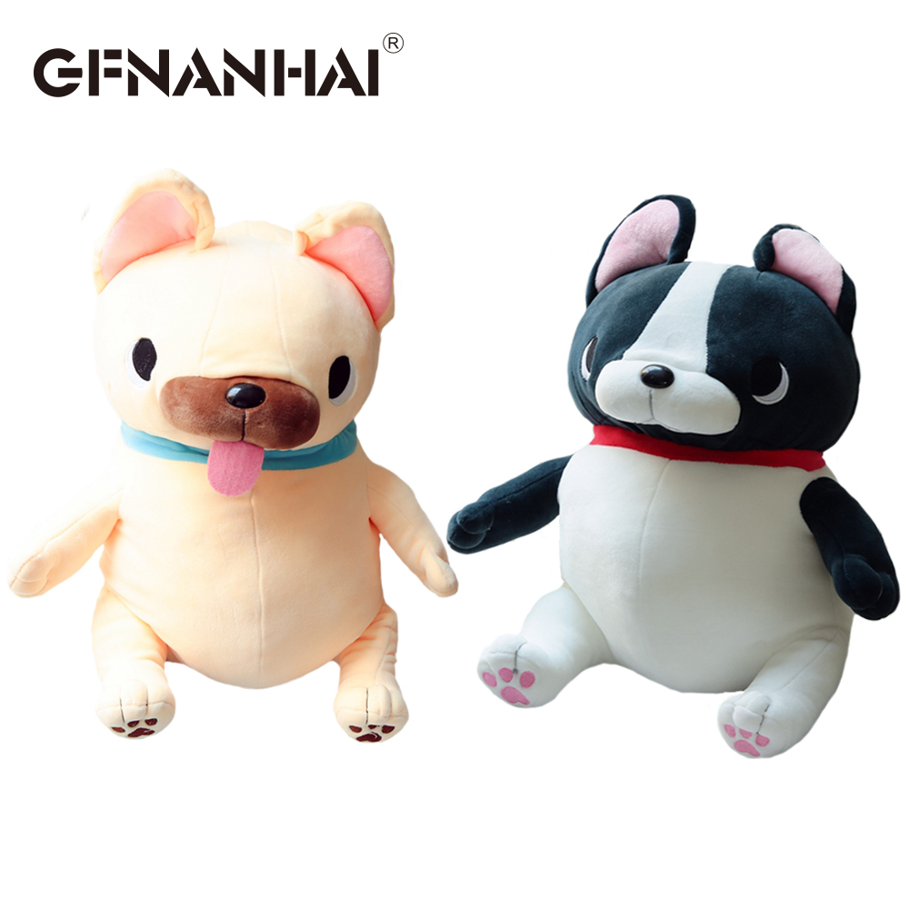 1pc 45cm cartoon French Bulldog plush toy sitting position animal bulldog dolls stuffed down cotton toys for kids birthday gift the little prince fox plush dolls 45cm le petit prince stuffed animal plush education toys for baby kids