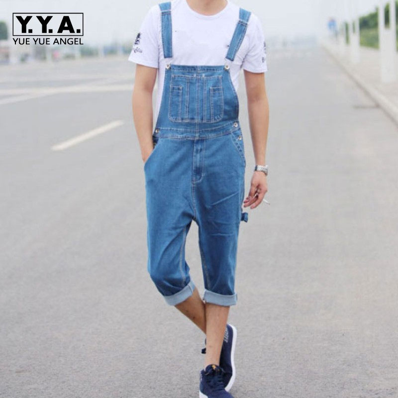 Summer Cotton Classic Denim Jumpsuits Loose Plus Size 28-46 Cotton Cargo Pants Pockets Overalls Retro Casual Mens Pants Trousers fashion casual loose denim overalls men large size 46 cargo pants male jeans jumpsuits spring vintage sexy denim trousers 062909