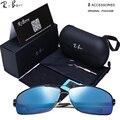 Rtbofy diseñador de la marca gafas de sol polarizadas de los hombres polaroid gafas de sol masculinas de conducción gafas de sol para los hombres gafas de sol con la caja, 9001