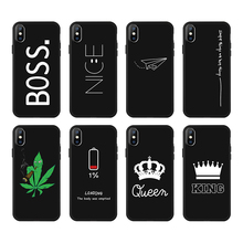 Black Silicone Phone Cases for iPhone 6 6s Plus 7 8 Plus X XR XS Max