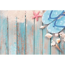 Laeacco Seaside Beach Starfish Shell loafer Scenic Baby Portrait Photography Backgrounds Photographic Backdrops For Photo Studio
