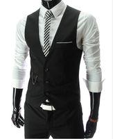 2015 New Arrival Dress Vests For Men Slim Fit Mens Suit Vest Male Waistcoat Gilet Homme