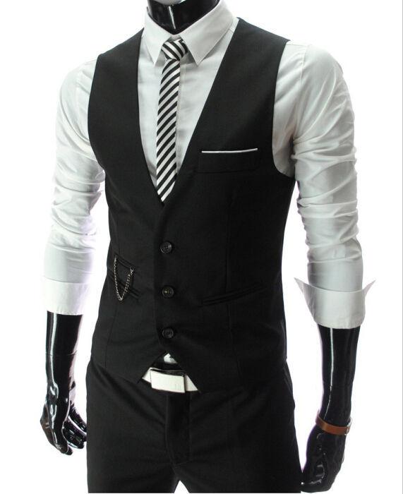 2017 New Arrival Dress Vests For Men Slim Fit Mens Suit Vest Male Waistcoat Gilet Homme Casual Sleeveless Formal Business Jacket