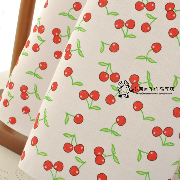 Vintage Cherry Print 100 Cotton Calico Tecidos Para Roupa Patchwork Fabric Meter Cloth Dress DIY Sewing Tissue Textile Material In From Home