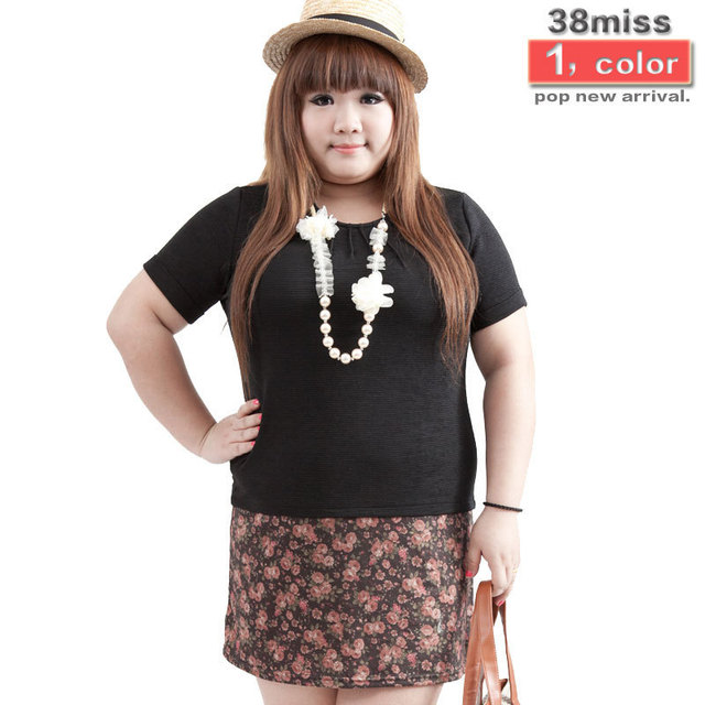 Discount Fat Women Dresses Cotton Polyester Fabric abadc4f78da2