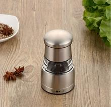 Kitchen Tools Stainless Steel Pepper Grinder Manual Black Salt Grinding Seasoning Bottle Hot Sale