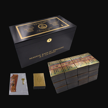 1200pcs Zimbabwe One Hundred Trillion Dollar Gold Banknote Watermark  and 120 Certificates with Wooden Box for Gift