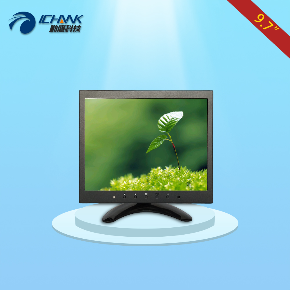 B097TN-V59/9.7 inch 1024x768 4:3 IPS full view 1080p metal case BNC HDMI VGA HD interface industry monitor LCD screen display;