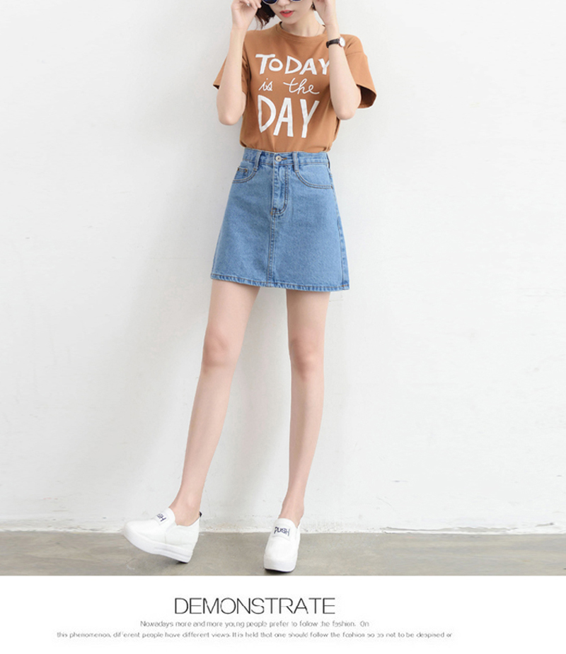 Lucyever Fashion Korean Summer Women Denim Skirt High Waist Black Mini Skirts Package Hip Blue Jeans Harajuku Plus Size Cotton 19