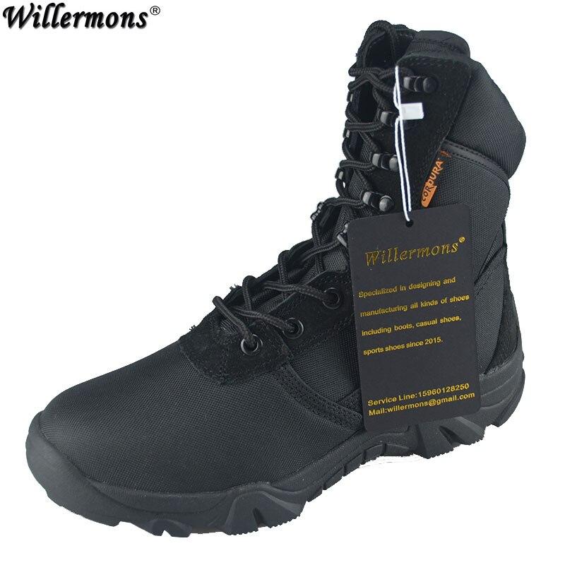 где купить Summer Men's Outdoor Military Camouflage Combat High Boots Men Army Tactical Boots Botas Hombre Coturnos Masculino по лучшей цене