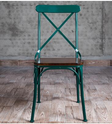 Vintage Old Bar. Iron Dining Chair. Real Wood Dining Tables. Cross Back Chairs..
