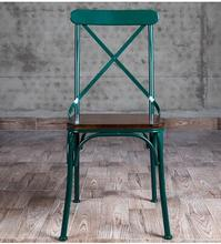 Vintage old bar. Iron dining chair. Real wood tables. Cross back chairs..