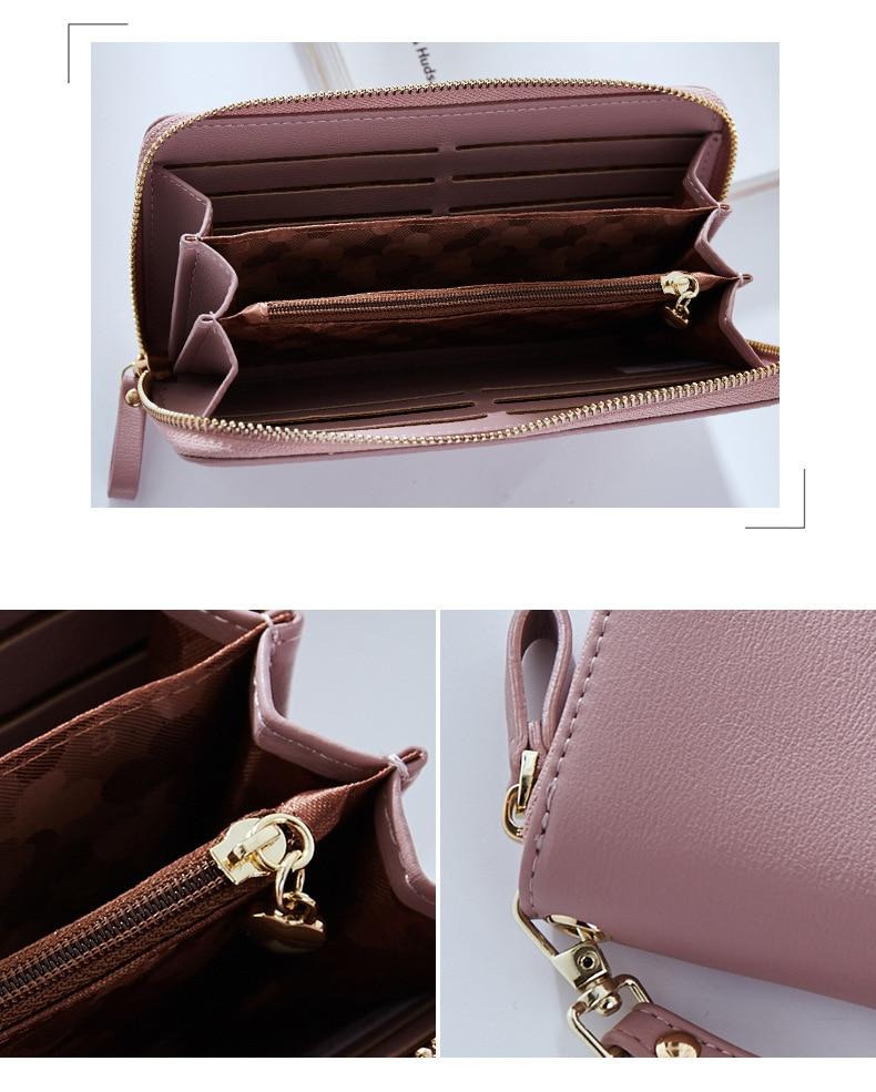 Women Long Clutch Wallet Large Capacity Wallets Female Purse Lady Purses Phone Pocket Card Holder Carteras 42