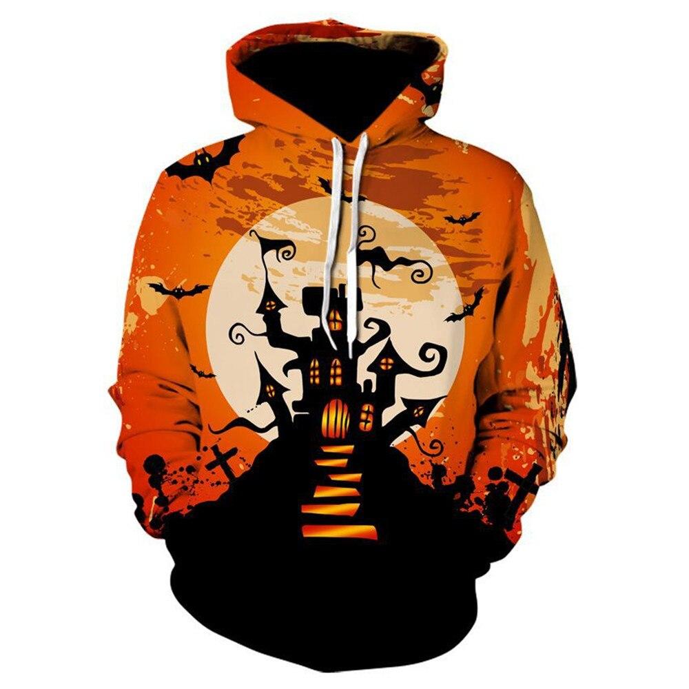 Newest 3D Print Halloween cosplay costumes Pumpkin Lamp Skull Pullovers Hoodies For Women/men Causal Loose Plus Size Sweatshirts