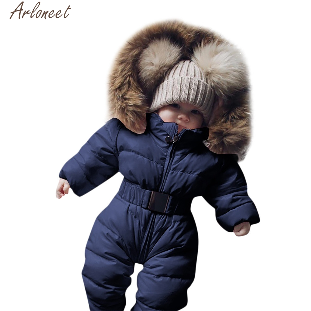 ARLONEET Baby Snowsuit Infant Newborn Babies Winter 0-12-Months Girls Carter Solid Coats