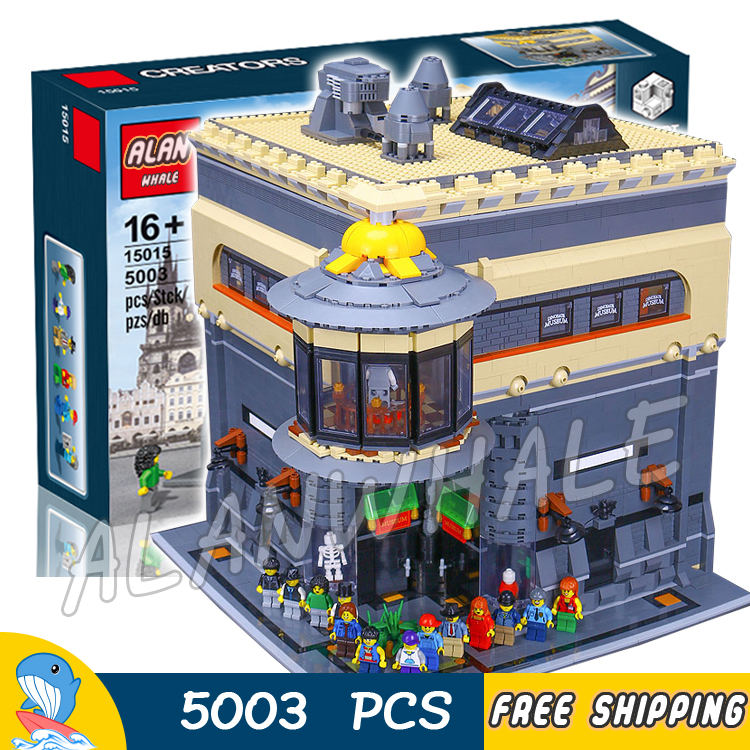 5003pcs New 15015 DIY The dinosaur museum Modular Building series Model Kit Blocks Gifts Toys Compatible With lego lepin 15015 5003 stucke stadt schopfer der dinosaurier museum moc modellbau kits ziegel spielzeug kompatibel weihnachtsgeschenke