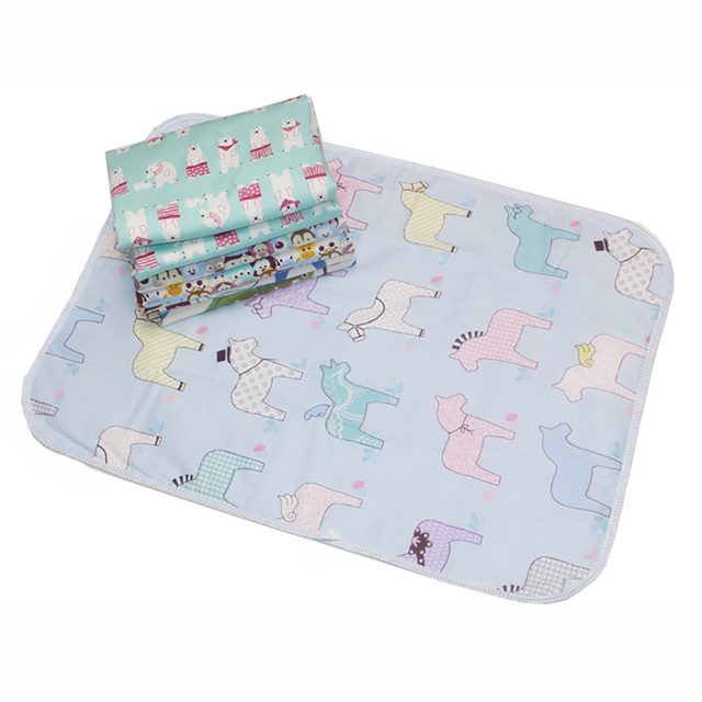 50 70 Size Baby Reusable Mattress Waterproof Diapering Changing Pads Cotton Washable Newborn