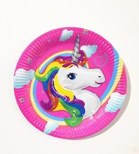 10pcs/Pack Cartoon Unicorn Paper Plates 7inch Printing Round Plates Kids Favor Birthday Party Supplies  sc 1 st  AliExpress.com & Buy disposable plates and get free shipping on AliExpress.com