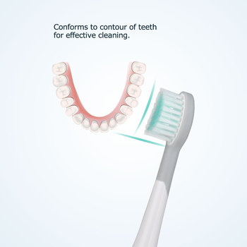 Набор сменных насадок для электрической зубной щетки Mornwell D01/D02, 4 шт. 4