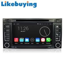 Likebuying Android 4.4.4 Car 2 Din 16G 1024*600 QUAD CORE DVD GPS Radio Stereo Navigator for VW TOUAREG T5 Multivan Transporter