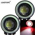 2 pçs/lote 3 Polegada 30 W luz de Nevoeiro Com COB Angel Eyes Nevoeiro lâmpada de Luz de Circulação Diurna DRL Carro Qualquer Carro Pode Usar AF