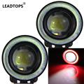 2pcs/lot 3 Inch  30W Fog Lamp With COB Angel Eyes Fog Lamp Daytime Running Light Car DRL Any Car Can Use AF