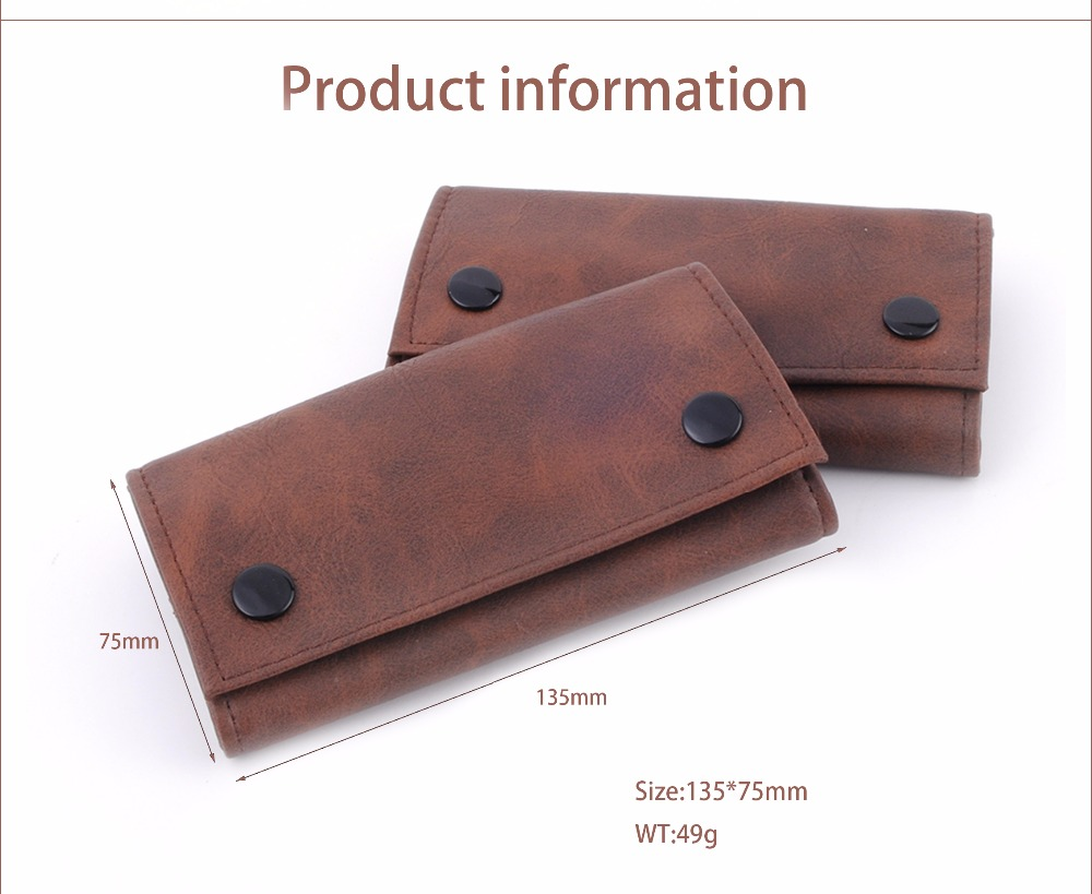ONUOSS Hot Man Made Leather Tobacco Bag Brown Color Portable Storage For Smoking Pipe Cigarette Accessories Tobacco Pouch