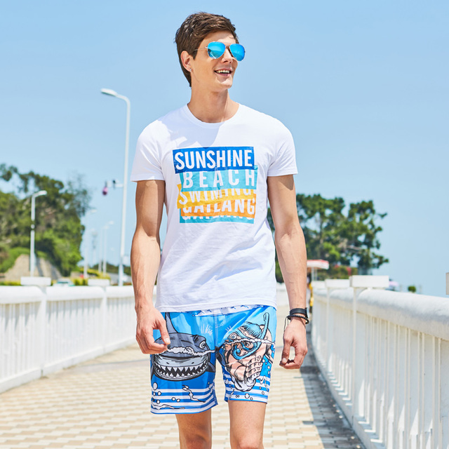 Gailang Brand Men's Beach Board Shorts Boxer Trunks Men Swimwear Swimsuits Bottoms Bermuda Sweatpant