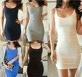 2015 nova mulheres verão Stratifiable vestido Sexy Bodycon vestido de verão tanque vestido Modal magro Backless Vestidos feminino vestido S-XXXL