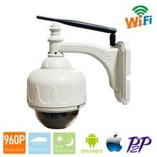 Wifi HD 1.3MP 960 p 5x оптический зум 2,8-12 мм беспроводной PTZ P2P Plug& Play наружная Водонепроницаемая ip-камера CCTV система безопасности