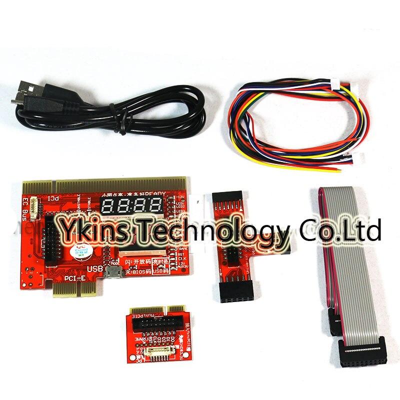 KQCPET6-H V4 2 in1 Para Laptop E Desktop PC Universal de Diagnóstico Suporte de teste de Depuração Rei Cartão Postal para PCI-E miniPCI PCI-E LPC