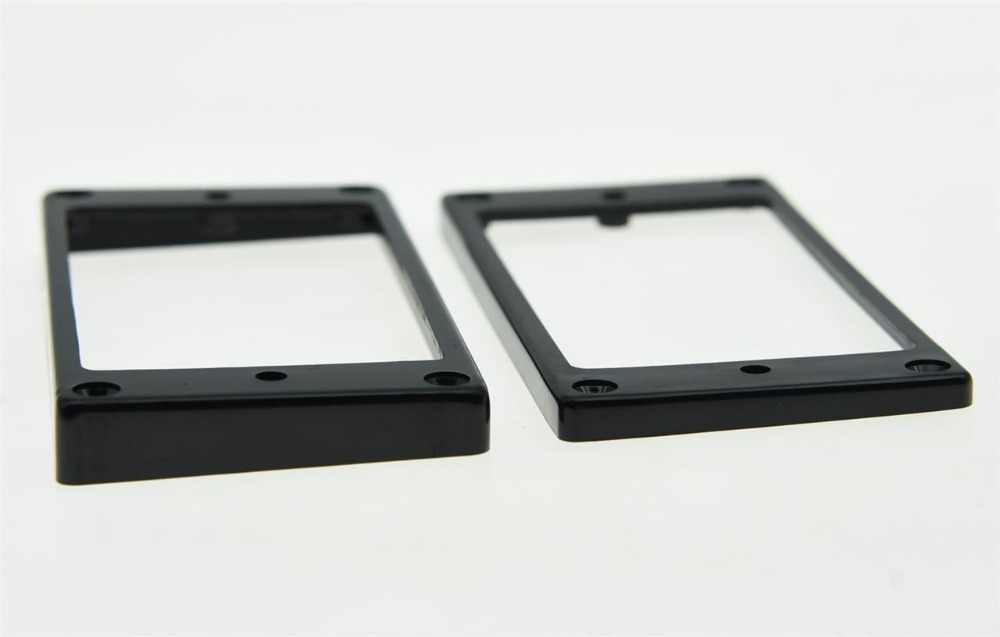 KAISH 2x Black Humbucker Pickup Ring Flat Base Bottom Frame fits for  LP Guitar
