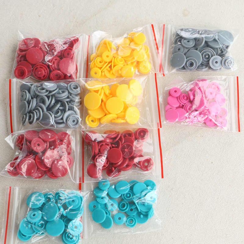 50 zestawów KAM T3-T8 10.8-13.8MM okrągłe plastikowe zatrzaski przycisk zapięcia kapa na kołdrę arkusz przycisk dodatki do odzieży na ubrania dla dzieci