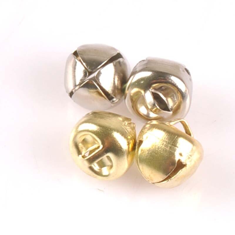 500 Golden Christmas Jingle Bells Charms Pendants 11mm for Craft DIY