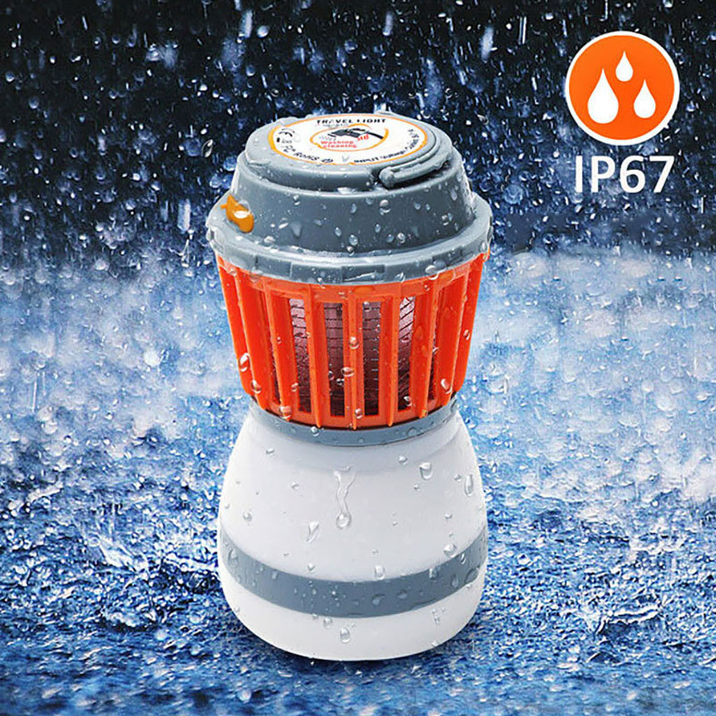 Multi Function Camping Camping Lamp Waterproof Mosquito Repellent Light 2200mah  Mosquito Insect Killer Light Household Items