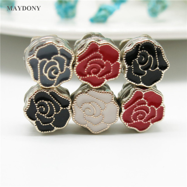 XT165 Fashion Small Size  Flower Brooches Pin Scarf Buckle Metal Muslim Headwear Abaya Khimar Magnetic Hijab Scarf Magnet