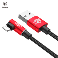 Baseus MVP Elbow USB Cable For iPhone 7 6 6s Plus se 5 5s iPad Air Mini Fast Charging Charger Data Mobile Phone Cables