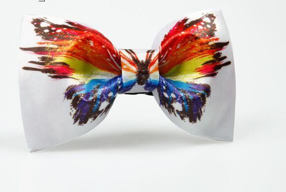 Navio livre dos homens de luxo 100% real impressão borboleta gravata borboleta arco nó de gravata/gravata borboleta/evento fase/fase desempenho tuxedo bow tie