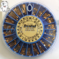 3 packs (120pcs/pack ) Conical Nordin Dental material Dental Gold Plated Tapered Conical Screw Posts Kits Refills Files