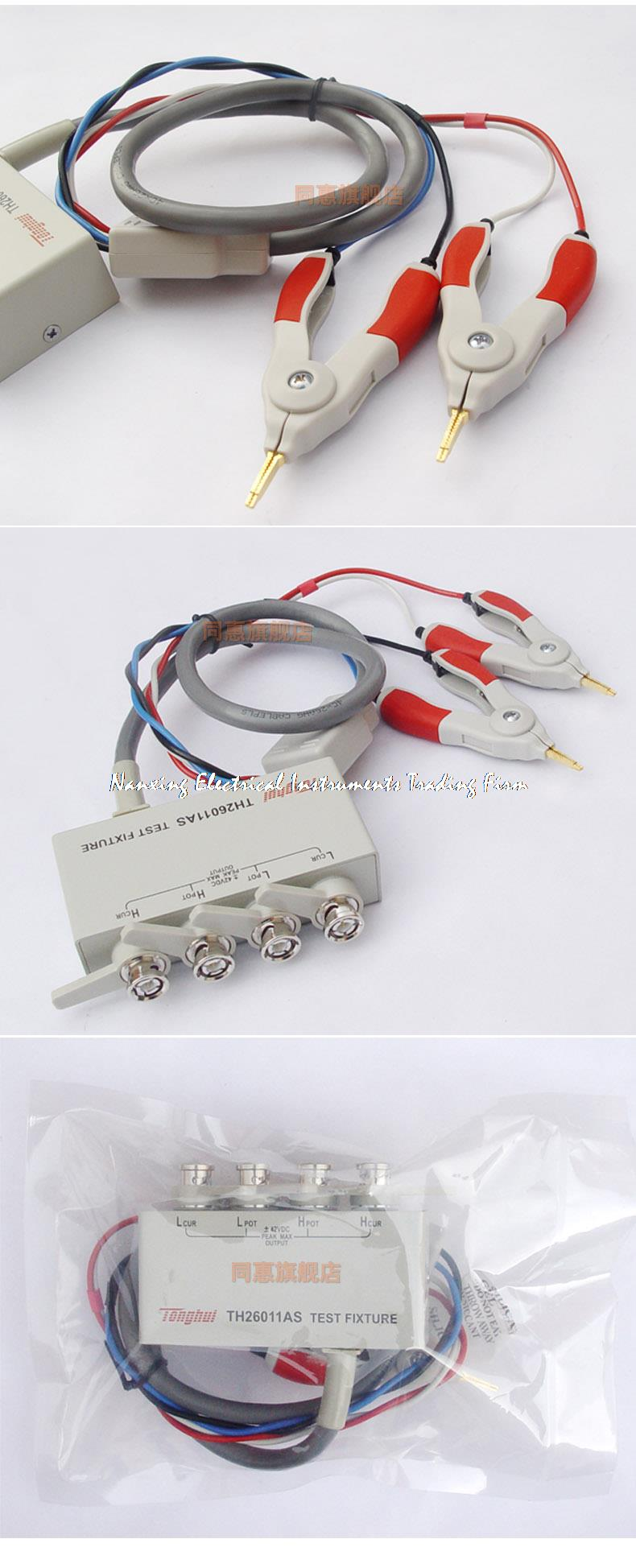 ФОТО Fast arrival TH26011AS Four terminal of kelvin test cables lead LCR meter TH26011A upgraded version