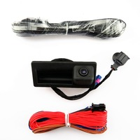DOXA 12V RGB Trunk Rear View Camera + Wire Cable Harness Plug For VW Tiguan Golf MK6 Passat B7 CC 56D 827 566 A 56D827566A