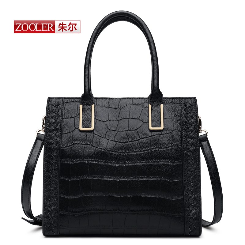 ZOOLER New 2016 Arrival genuine leather handbags woman bags famous brand shoulder bags Alligator fashion bags