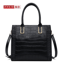 ZOOLER New 2016 Arrival genuine leather handbags woman bags famous brand shoulder bags Alligator fashion bags for ladies#CK-1216