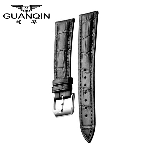 GUANQIN Original strap for 20mm black brown for 19031