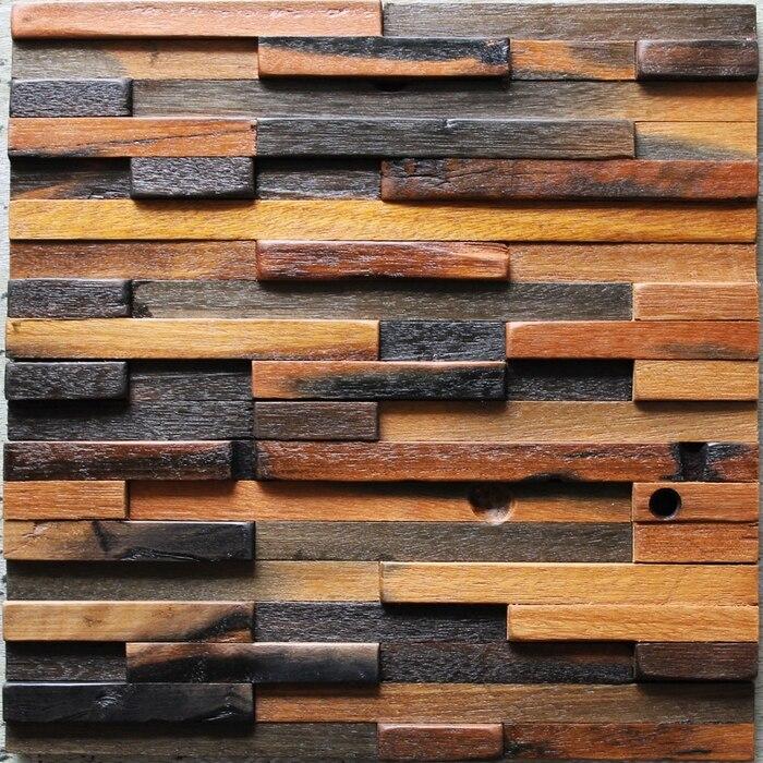 strip pattern brick wood tile bathroom shower tiles, natural wooden ...