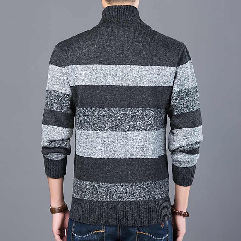 2019 kalın yeni moda marka kazak erkek hırka Slim Fit süveter triko sıcak sonbahar kore tarzı rahat giyim erkek